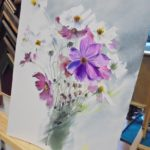 warsztatyDSC04844akwarela akwarelowe malarstwo tatiana majewska arthobbystudio kwiaty 150x150