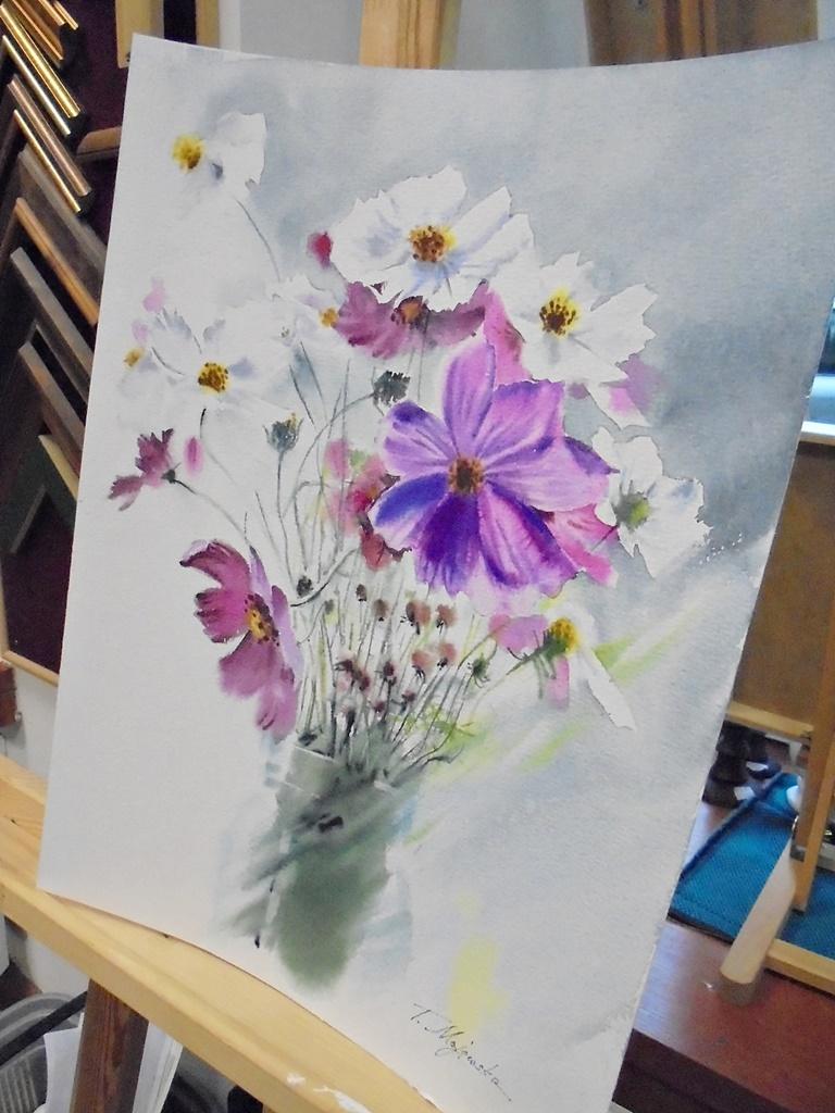 warsztatyDSC04844akwarela akwarelowe malarstwo tatiana majewska arthobbystudio kwiaty