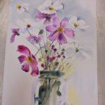 warsztatyDSC04846akwarela akwarelowe malarstwo tatiana majewska arthobbystudio kwiaty 150x150
