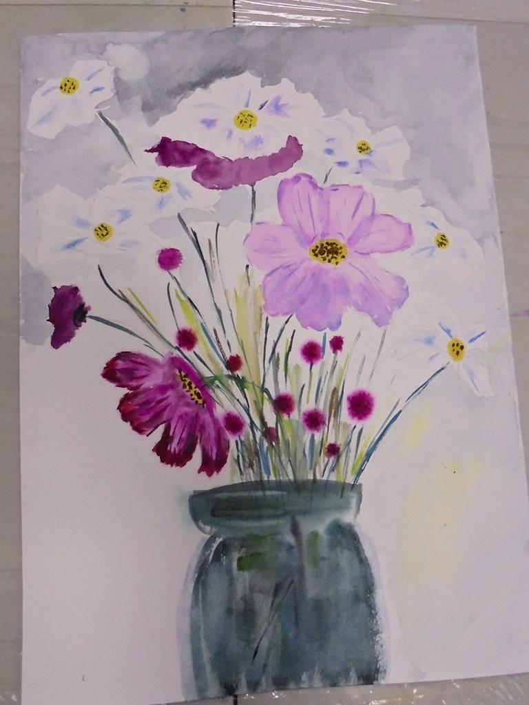 warsztatyDSC04848akwarela akwarelowe malarstwo tatiana majewska arthobbystudio kwiaty