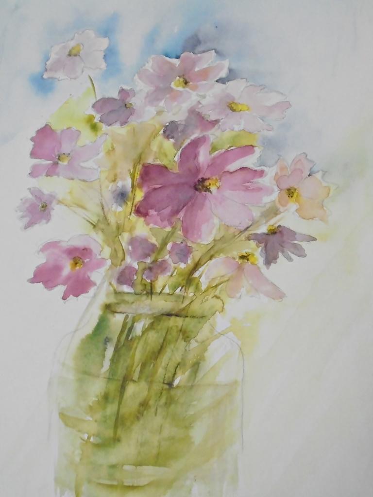 warsztatyDSC04850akwarela akwarelowe malarstwo tatiana majewska arthobbystudio kwiaty