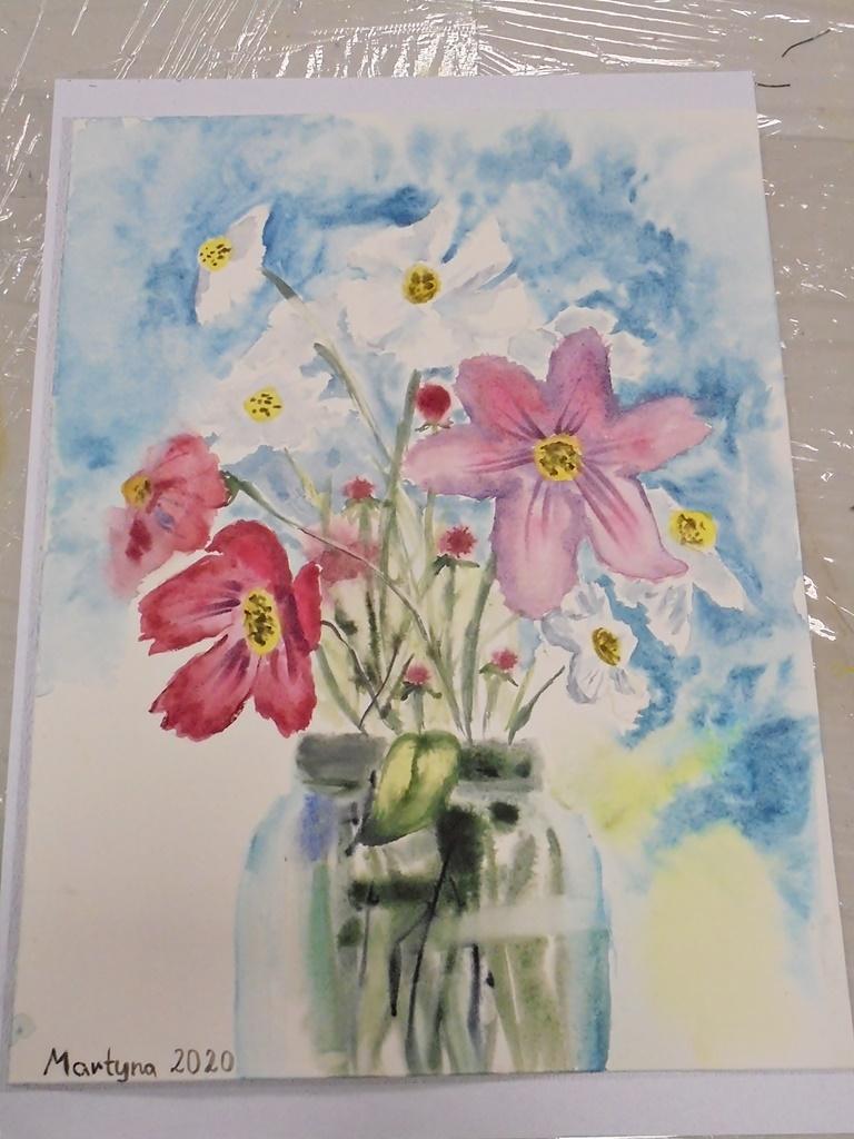 warsztatyDSC04851akwarela akwarelowe malarstwo tatiana majewska arthobbystudio kwiaty