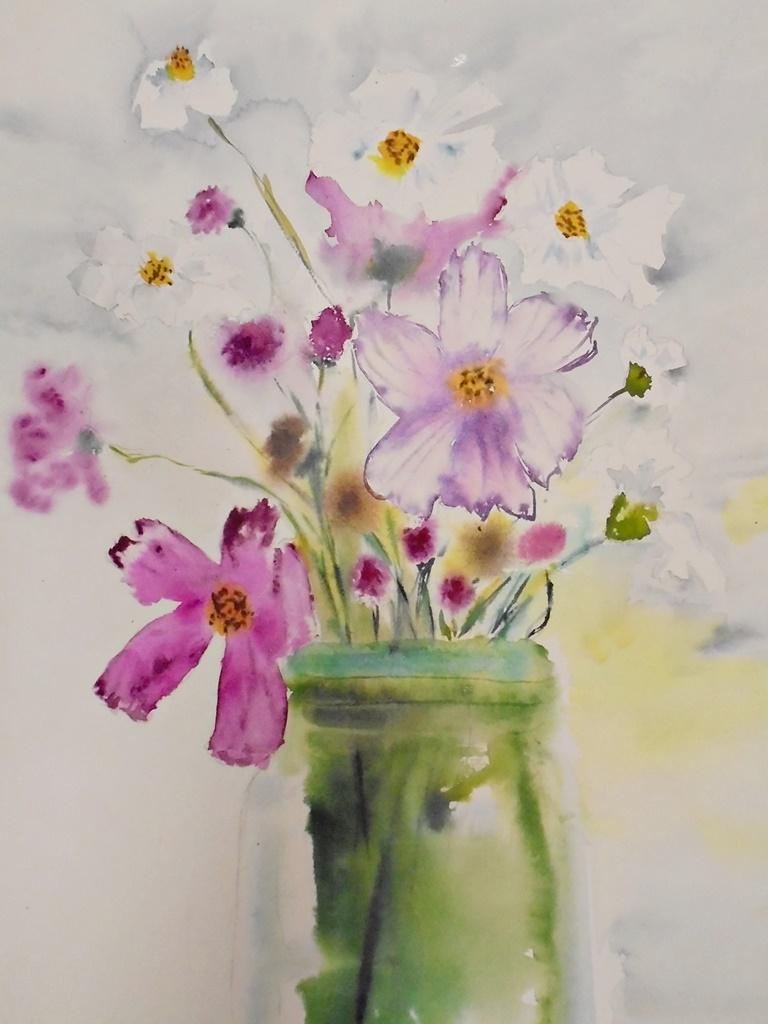 warsztatyDSC04852akwarela akwarelowe malarstwo tatiana majewska arthobbystudio kwiaty