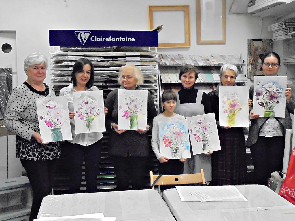 warsztatyDSC04855akwarela akwarelowe malarstwo tatiana majewska arthobbystudio kwiaty