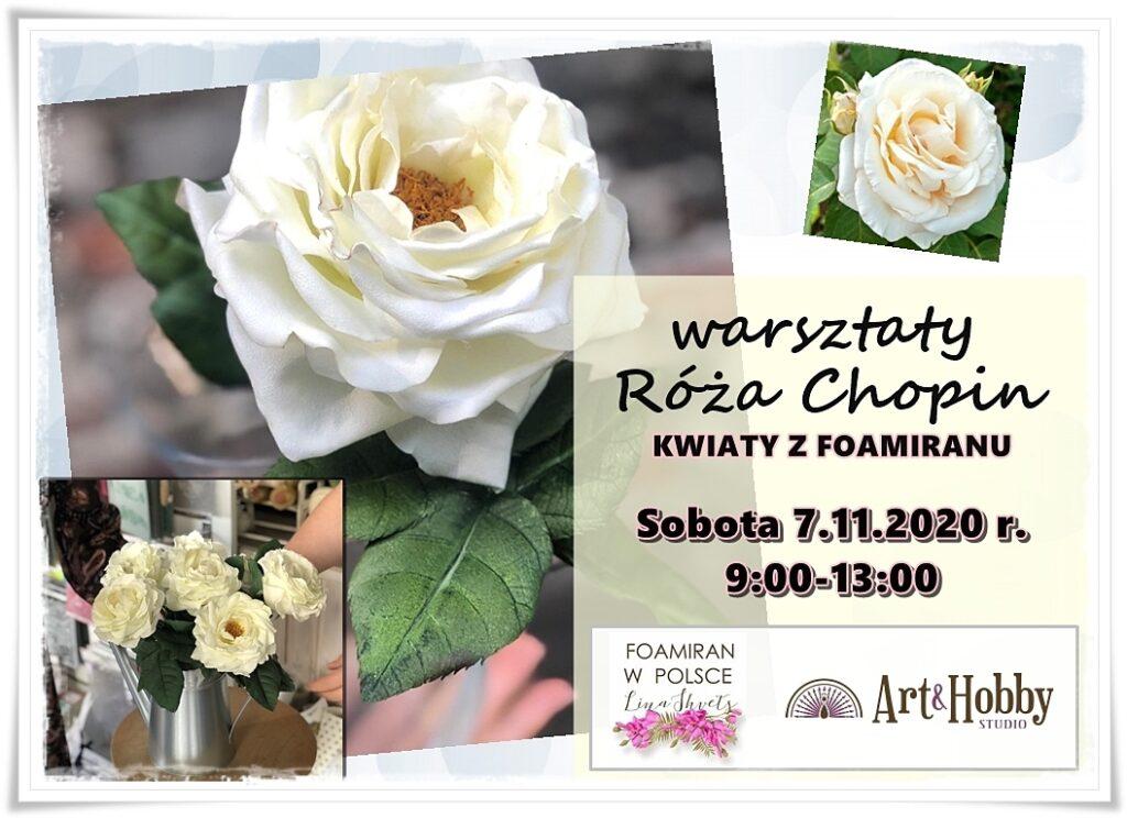 plakat arthobbystudio warsztaty kwiaty foamiran shvets 1024x744