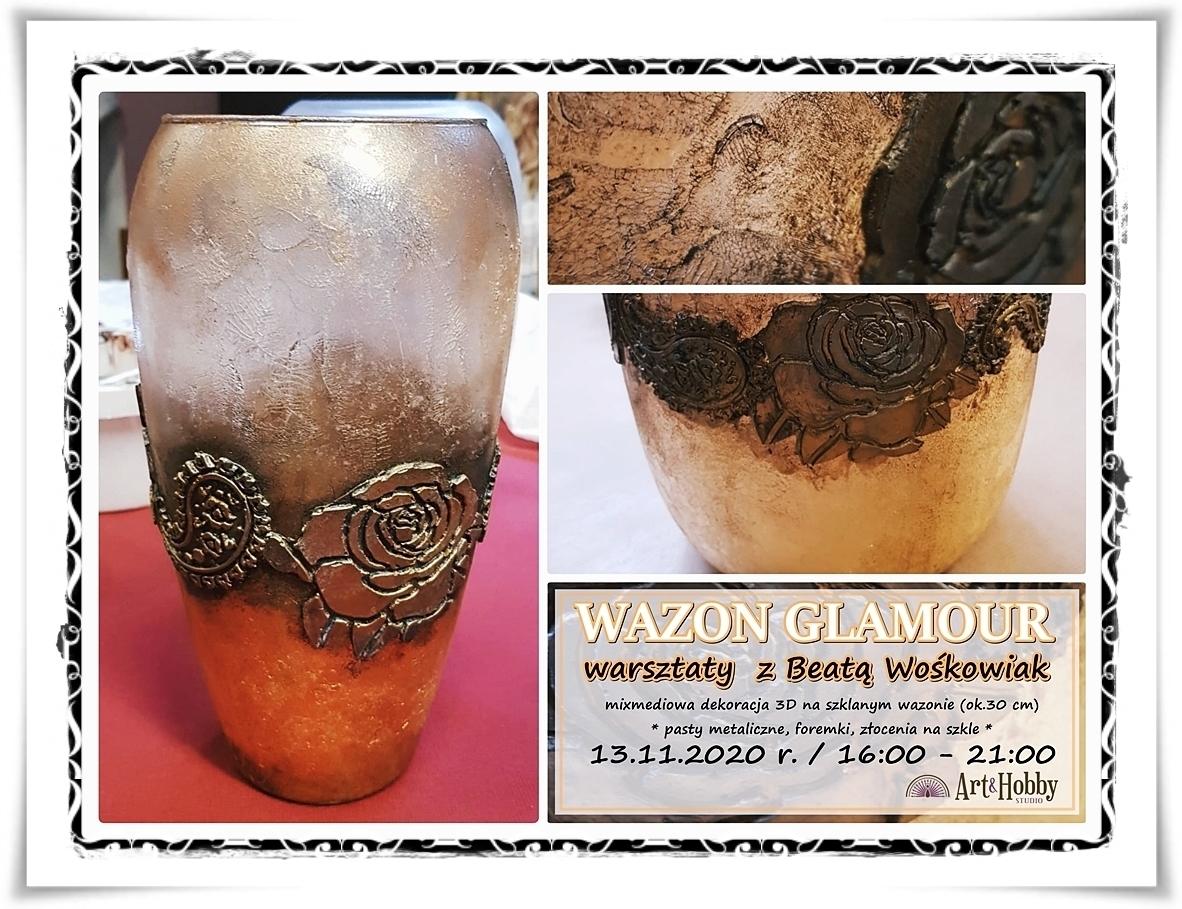 warsztasty beata woskowiak sztuka zdobienia arthobbystudio lublin wazon glamour 4